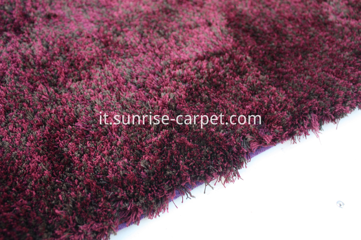 microfiber shag thin yarn burgundy