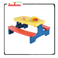 Colorful Foldable Plastic Table And Chair For Kids