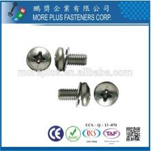 Taiwan Philip Pan Head Parafuso de máquina macia com ponto de cabeçalho SEMS com lavador duplo de dentes e arruela plana