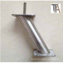 Stainless Steel Material Chrome Plated Sofa Leg with Foot