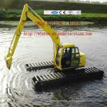 Escavadeira anfíbia do fabricante Escavadeira flutuante da máquina escavadora do pantanal feito em China