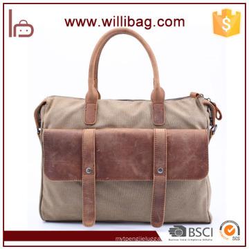 Top Grade Business Tote Messenger Bag Leisure Canvas Men Handbag