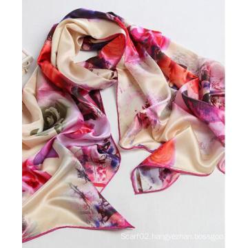 100%Silk Scarves Digital Print 100%Silk Shawls