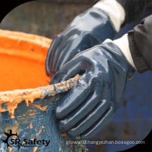 A grade Heavy duty dark blue nitrile oil field gloves