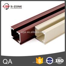 GD17 eletroforese trilho de cortina montado no teto de alumínio