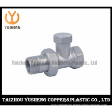 Nickel-Plating Male Brass Radiator Valve (YS5005)