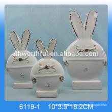 Conejito de cerámica de alta calidad figurine.ceramic ornamento del conejito, decoración del conejito