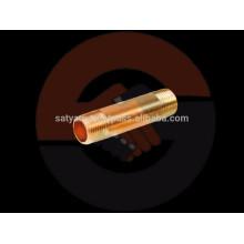 OEM latón / accesorios de tubería de acero inoxidable - latón tubería pezón con roscas en ambos extremos
