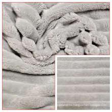100% Polyester Flannel Fleece Minky Stripes Fabric