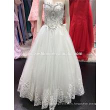2016 бальное платье мягкий тюль свадебное платье с Emroidered кружева блестки бусины кристаллы милая шеи A094