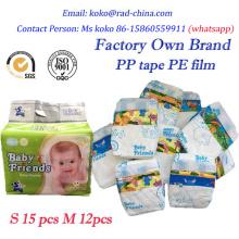 Baby-Windeln Einweg-Typ und Qualität Babys Altersgruppe Baby Windeln in Ballen