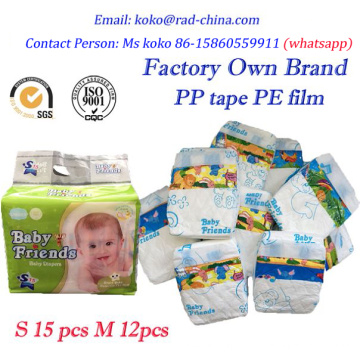 Baby Diapers Disposable Type and High Quality Babies Age Group Baby Diapers in Bales