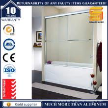 Дверь душевой кабины с алюминиевым стеклом