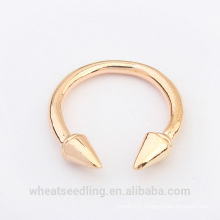 hot selling fashion simple gold silver ring