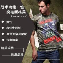 Camiseta multifuncional tático com Cartoon personagem desporto t-shirt
