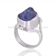 Natural Tanzanite Gemstone 925 Sterling Silver Ring Women's Jewelry From India