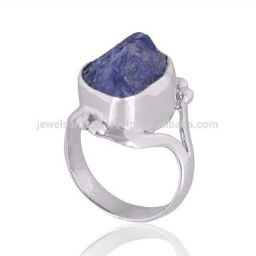 Natürliche Tansanit Edelstein 925 Sterling Silber Ring Damen Schmuck aus Indien