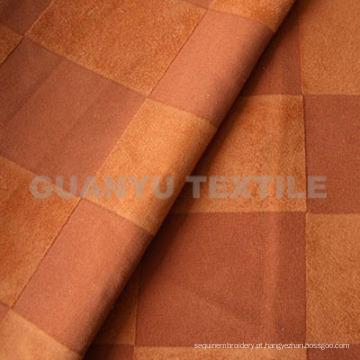 Tecido de camurça de poliéster com tratamento colado para sofá