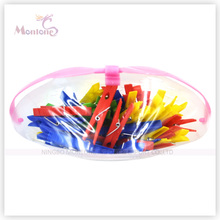 Plastic Clothes Pegs 24PCS (basket+shrink)