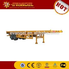 Dimensiones del semirremolque de la cama baja en venta eje semirremolque fabricado en China