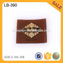 LB390 Washable real leather patches labels for pants jeans