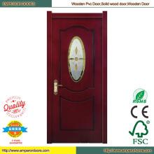 Vidrio puertas correderas puerta principal diseño barato puerta de madera
