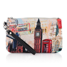 Lady Fashion Printed Baumwolle Canvas Werbe Kosmetik Clutch Pouch (YKY7531-3)