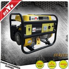 Bison Chine Zhejiang moteur à essence fiable Four Stroke 1.5KVA Power King Generator Set 1500w