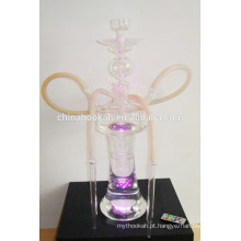 GH078-LT borosilicato de vidro cachimbo de água shisha / nargile / tubo de água / com luz led / sheesha / narguile