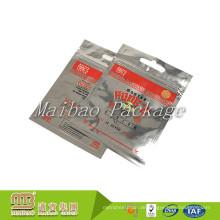 Kundenspezifisches Logo druckte silbernes Heißsiegel-Lebensmittel, das wiederversiegelbare lamellierte Aluminiumfolie Mylar Zip-Verschluss-Tasche verpackt