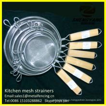 Все размеры чипов здоровье жаря корзины с ручками кухня фильтрации лапши сита круглые из нержавеющей стали с двойной сетки ситечки