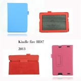 E-book Folio Leather Case in Book Look for Kindle Fire HD 7 2013 Ablst-005