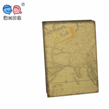 Hot Selling Four Map Design Cover A4 Notebook with Vintage Drawing (NP(A4)-Y-100P-02)