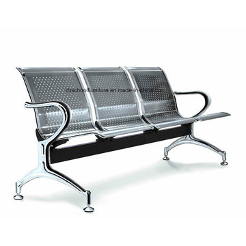 Stainless Steel Hospital Chair Waiting Chair with Armrest