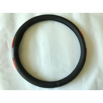 PVC leather steering wheel cover with reflector