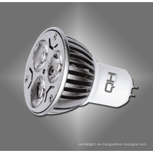 GU10 E27 Gu5.3 MR16 3W potencia LED Spotlight