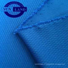 Tissu en maille nid d'abeille 3D à 100% de polyester pour vêtements de mode