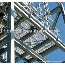 Revêtement de sol en grès en acier, plancher et passerelle, matériau en acier galvanisé A36