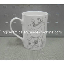 Fine Bone China Mug, 10oz Straight Bone China Mug