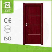 Alibaba venta caliente precio competitivo melamina puerta de madera bonito diseño