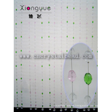 Vidro de cristal de cor-de-rosa e verde decorativa perlados cortinas