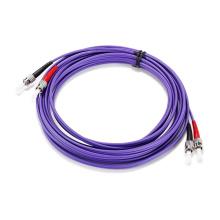 Цена Завода Низкие Потери Мультимодный ST-Сент-Фиолетовый Ом4 Двухшпиндельный Гибкий Провод