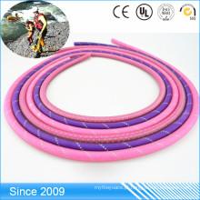 Trela macia durável do cão da corda redonda feita com corda de nylon revestida do PVC