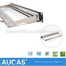 "AMP FTP 24 RJ45 anti-polvo patch panel / systimax China precio de fábrica de venta caliente 19 ""1U cat6 teléfono rj11 patch panel /"