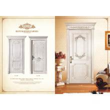 Novo produto A melhor venda de vidro porta de madeira sólida com boa qualidade Bloqueio de porta