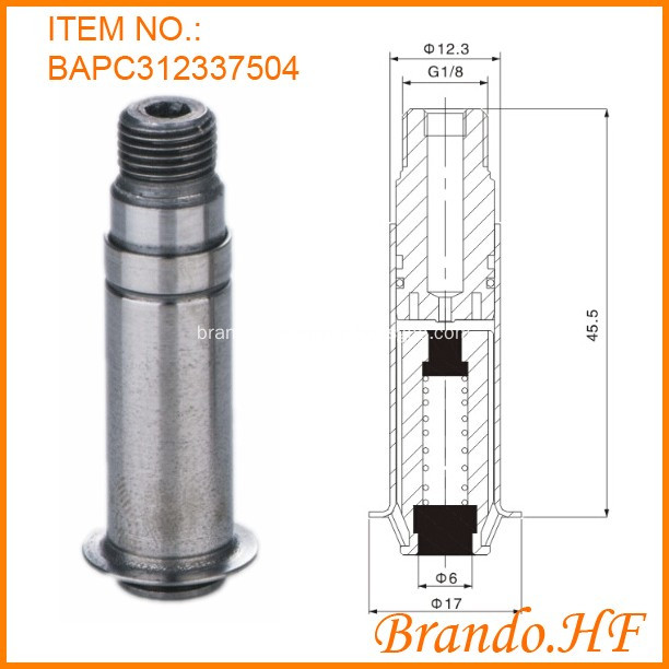 solenoid fixed core and plunger