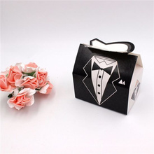 Wedding Dress Grown Candy Box Bride&Groom Chocolate Gift