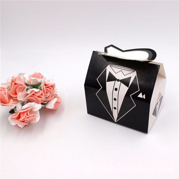 Wedding Dress Grown Candy Box Bride & Groom Hadiah Cokelat
