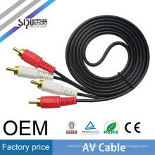 SIPU precio de fábrica 2rca av cable para video portátil cable de video audio al por mayor mejor precio rca cable