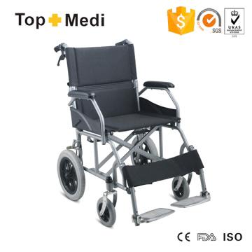 Silla de ruedas manual económica de acero con asa abatible Topmedi